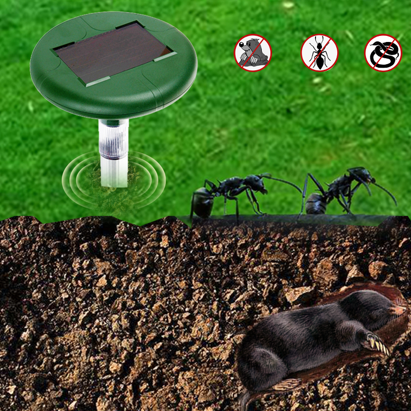 Solar Mole/Snake Repellent-AGTZ-08LED